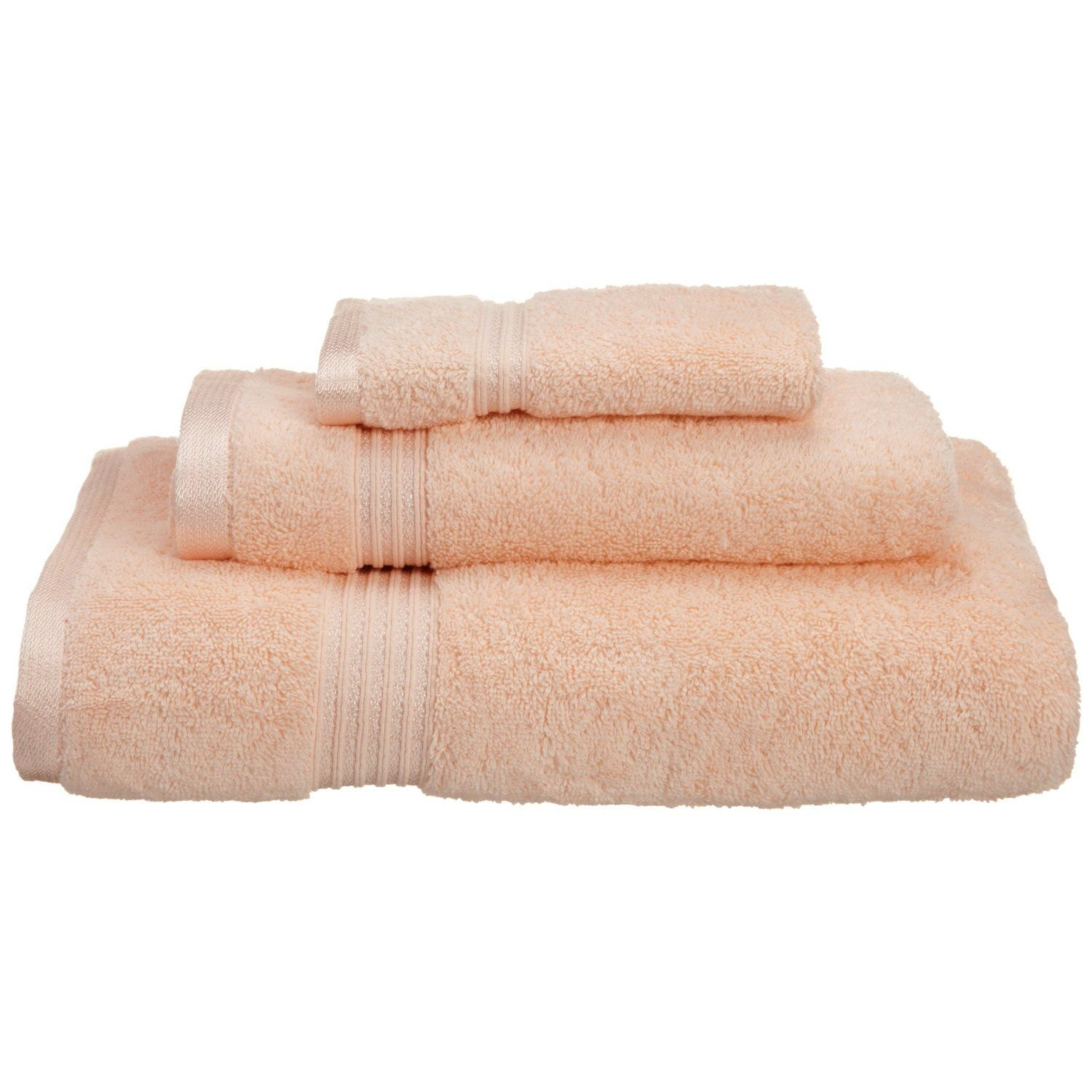 Superior Luxurious Soft Hotel & Spa Quality 3-Piece Towel Set, Made of 100% Premium Long-Staple Combed Cotton - Washcloth, Hand Towel, and Bath Towel, Peach