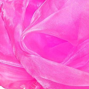 Organza Deko-Stoff in pink hauch zart und duchsichtig Meterware Gardine Tolko