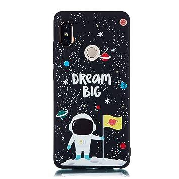 EUCase Funda para Xiaomi Redmi Note 5 Pro Silicona Suave Carcasa Redmi Note 5 Pro Antigolpes Suave TPU Flexible Goma Mate Ultra Delgada Cubierta ...