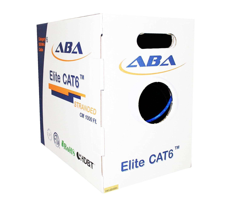 UTP 24AWG UL Certified Elite Cat6 Stranded cm Bulk Ethernet Cable in Orange Bare Copper 550MHz 1000ft