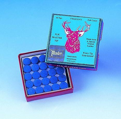 9mm x 5 by Peradon Elkmaster glue on snooker pool cue tips