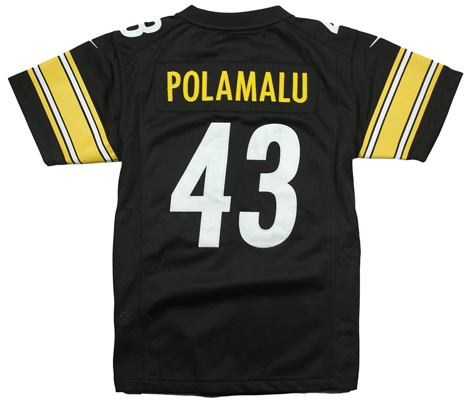 25cd7181c8d ... shopping amazon troy polamalu 43 pittsburgh steelers nike youth limited jersey  black sports outdoors 8ea7e d9f0a