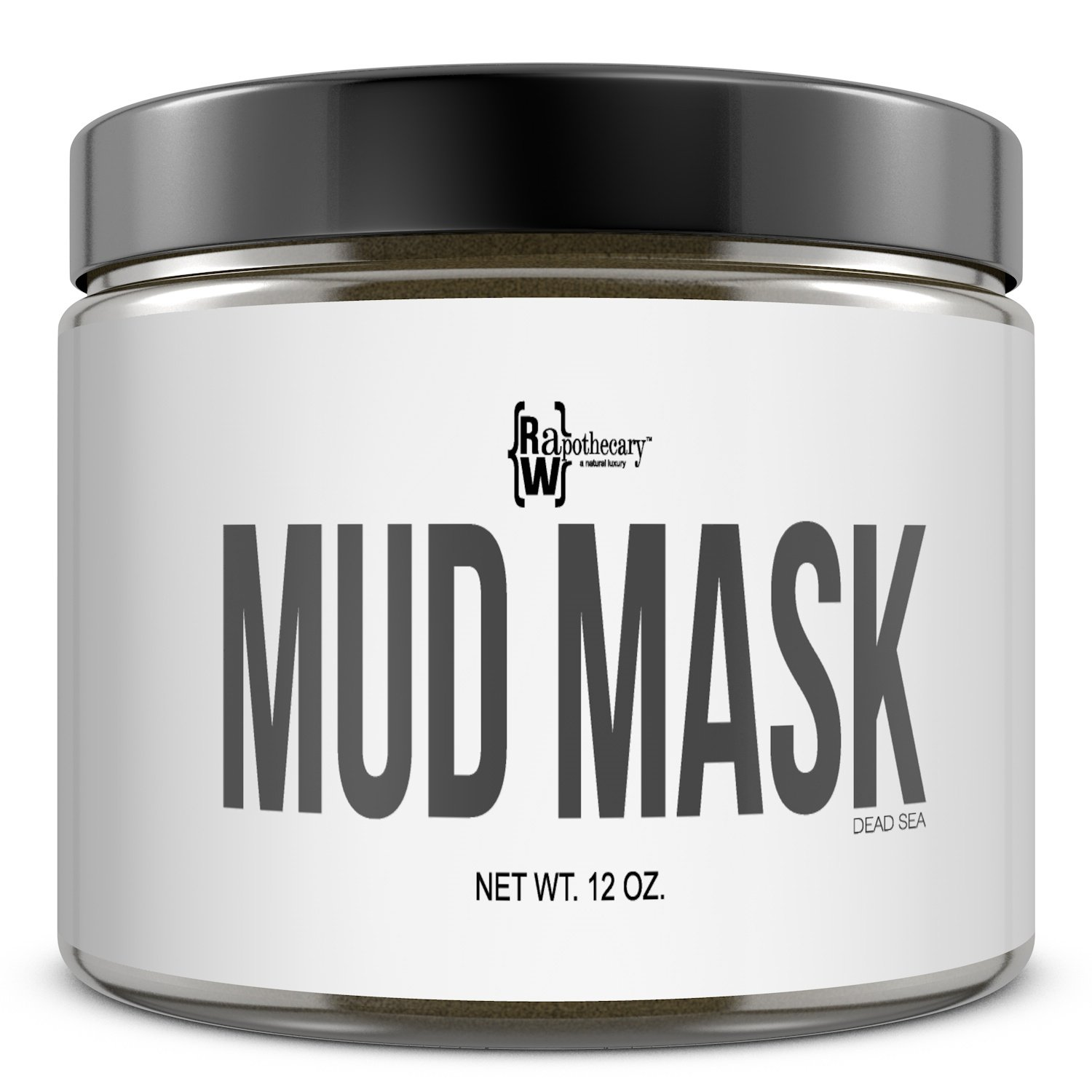 Dead Sea Mud Mask by Raw Apothecary- All Natural Facial & Skin Treatment, Treats Acne, Reduces Wrinkles, Eliminates Cellulite (12 Ounces)