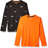 Amazon Essentials Boy's 2-Pack Long-Sleeve Tees