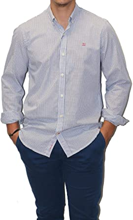 MAKARTHY - Camisa Cuadros Vichy Medio Hombre Color: 240 Rojo ...