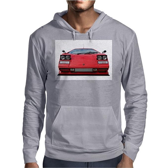 Lamborghini Countach Mens Hoodie Light Grey Small Amazon Ca