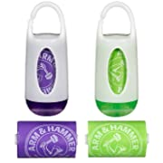 Munchkin Arm and Hammer Diaper Bag Dispenser, Purple/Green, 2 Pack
