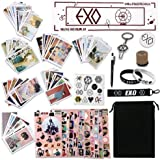Fatyi EXO Gift Set with Lomo Card, Keychain, Ring, Lanyard, 3D Sticker, Sticker, Pen, Wristband, Banner, Phone Stand…
