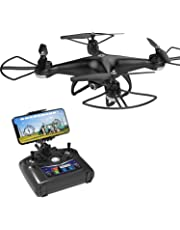 Holy Stone HS110D FPV RC Drone with Camera 720P HD 120° FOV Live Video RTF Wifi Quadcopter for Adults Kids Beginners Helicopter with Remote Control Altitude Hold Headless Mode One Key TakeOff 3D Flips