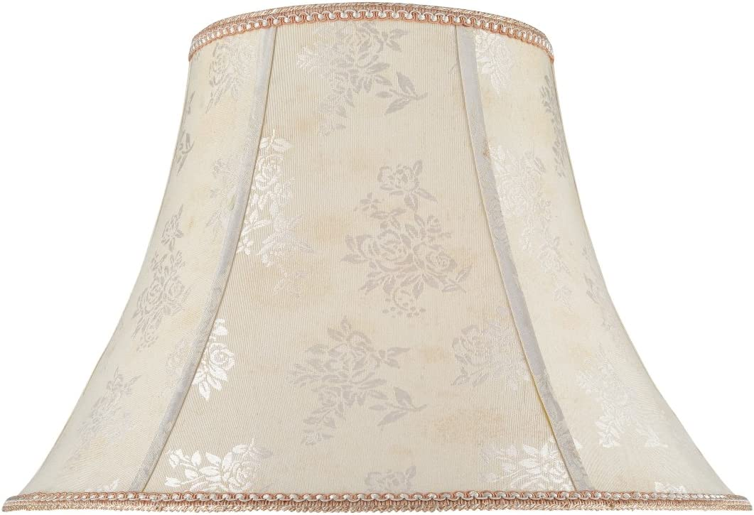 Aspen Creative 30027 Transitional Bell Shape Spider Construction Lamp Shade in Off White, 18 wide 9 x 18 x 13