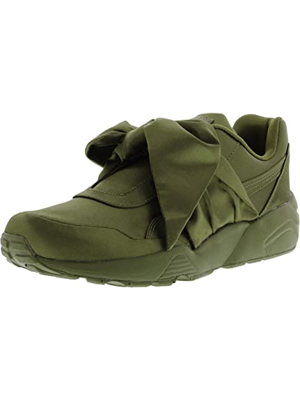 ab0d4546c97124 PUMA Women s Bow Sneaker Fenty by Rihanna Olive Branch Olive Branch Olive  Branch 7 B US  Amazon.co.uk  Shoes   Bags