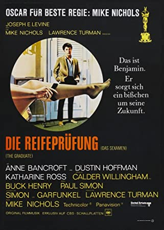 The Graduate Dustin Hoffman Katharine Ross 24X36 Poster Print