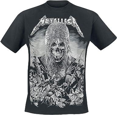 Metallica Hombre Camiseta Negro, Regular: Amazon.es: Ropa y accesorios