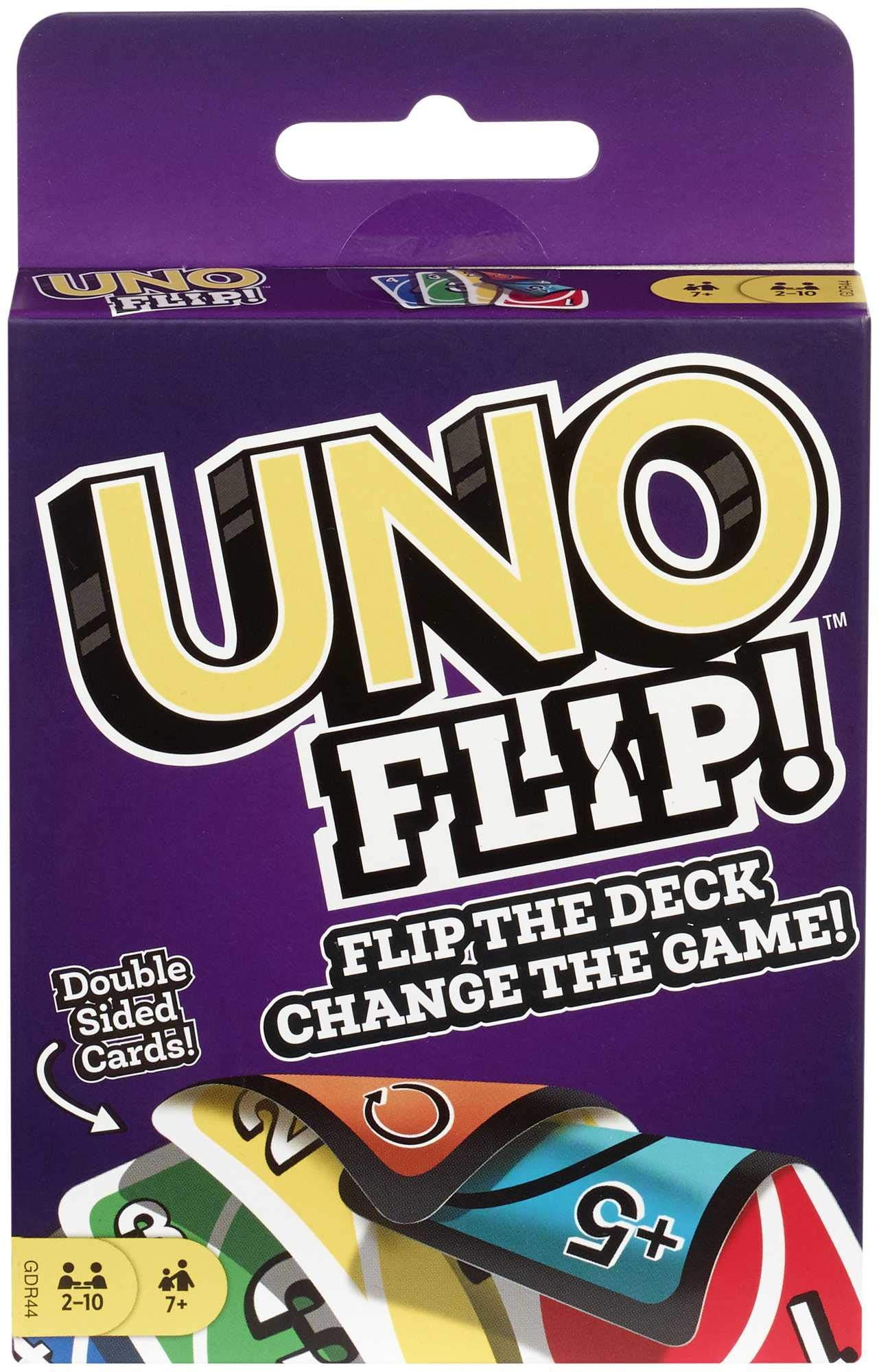 UNO FLIP! Family Card Game, with 112 Cards, Makes a Great Gift for 7 Year Olds and Up