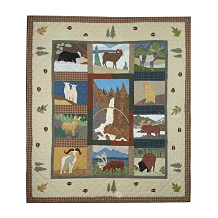 amazon com patch magic twin rocky mountain quilt 65 inch by 85