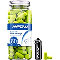 Mpow Foam Earplugs 60 Pairs with Aluminum Carry Case 60 gram