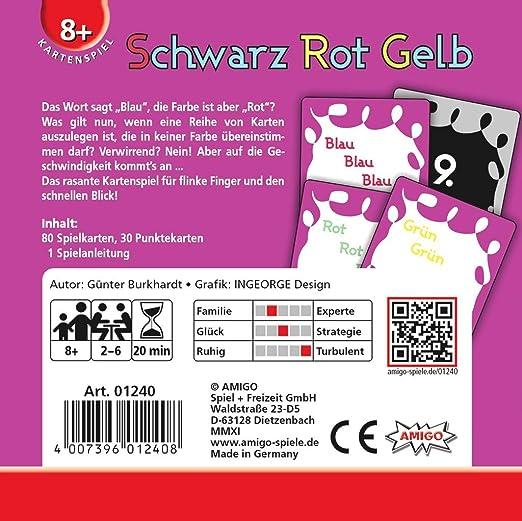Amigo 01240 Gioco da Tavolo Schwarz Rot Gelb [Lingua Tedesca]