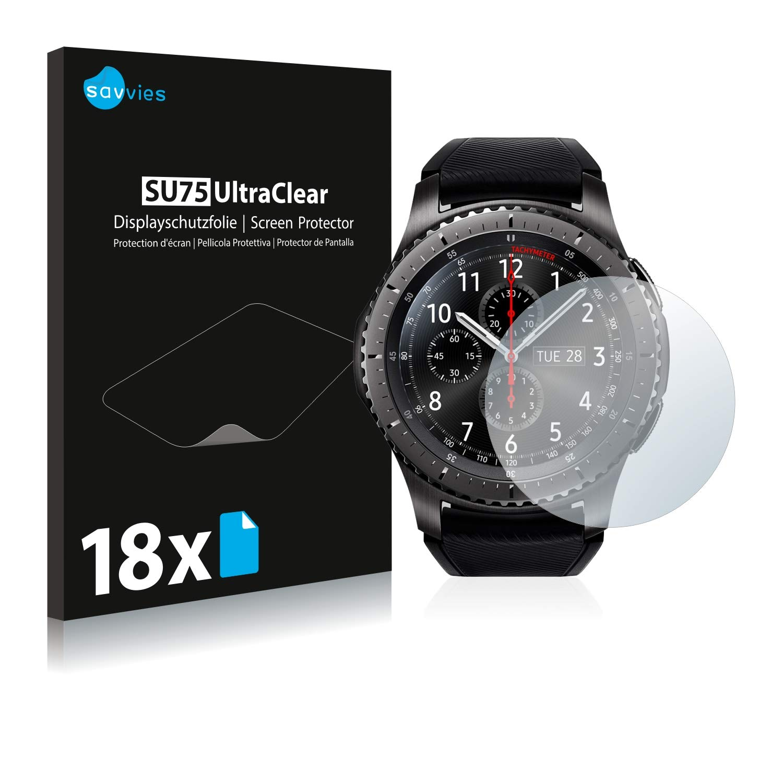 savvies Protector Pantalla Compatible con Samsung Gear S3 Frontier ...