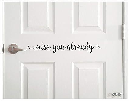 Amazon.com: CLIFFBENNETT Miss You Already Decal, Cute ...