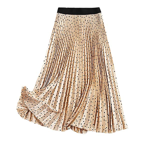 VECDY Faldas Mujer Cortas, Elegantes Cintura Alta Falda Plisada ...