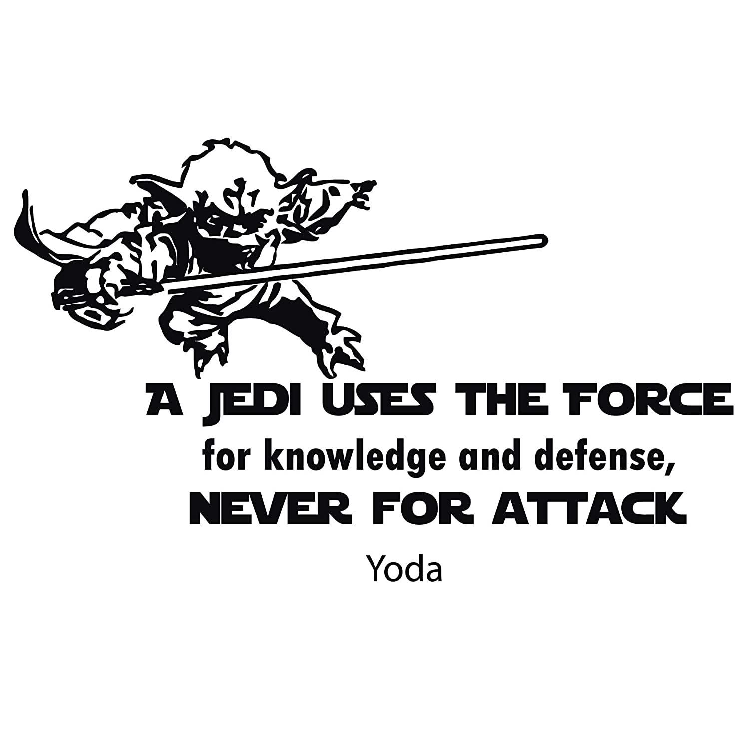 Amazon Yoda Wall Decal Star Wars Quotes Decals A Jedi Uses The