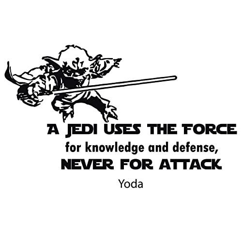 Amazoncom Yoda Wall Decal Star Wars Quotes Decals A Jedi Uses The