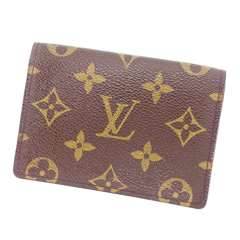 (ルイヴィトン) Louis Vuitton 定期入れ パスケース レディース メンズ 可 ポルト2カルトヴェルティカル M60533 モノグラム 中古 P540 B0754GZ1LG