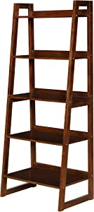 Coaster Home Furnishings 5-Shelf Ladder Cappuccino Bookcase