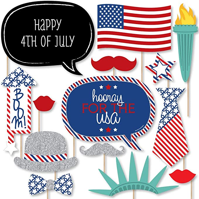 Photo Booth Frame Personalized Americana Photo Booth Sign Stars /& Stripes Photo Prop Patriotic Photo Prop 4th of July Photo Prop Frame