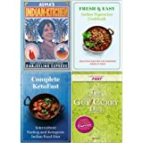 Asmas Indian Kitchen [Hardcover], Fresh & Easy Indian Vegetarian Cookbook, Complete Ketofast, Slow Cooker Spice 4 Books Collection Set