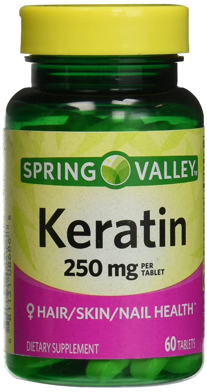 Amazon.com: Spring Valley Keratin, 250 mg, 60 tabs: Health ...