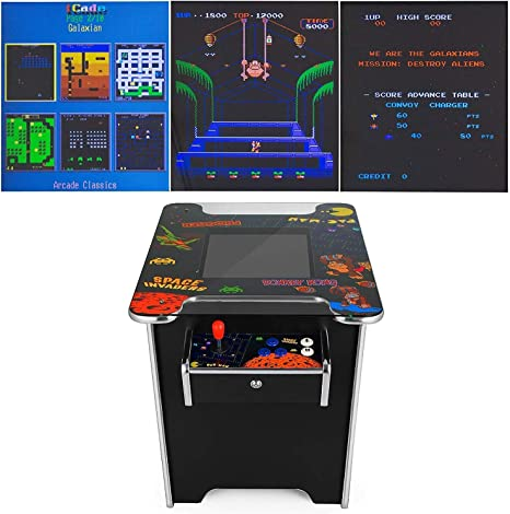 Durable 60 Juegos Retro Mesa de cóctel Retro Arcade Games Machine 60 Juegos Juegos de Consola para 2 Jugadores de Retro Games Pandora Box (Retro Table Arcade Games): Amazon.es: Hogar