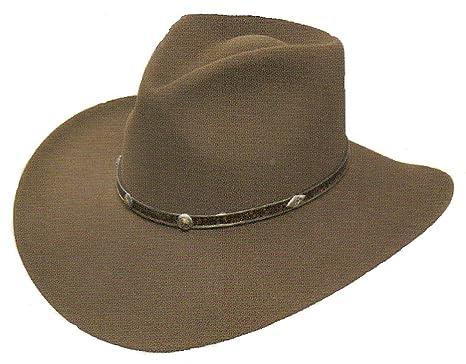 91d028101b Stetson Cowboy Hat 4X Buffalo Fur Felt Sawtooth Mink at Amazon Men s ...