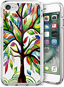 Case for iPhone 7/8/ SE 2nd 2020 Clear Phone Case Customized Life Tree for Girls Women Transparent Anti-Scratch Shockproof Slim Flexible TPU Bumper Protective Cover Case for iPhone 7/8/ SE 2nd 2020