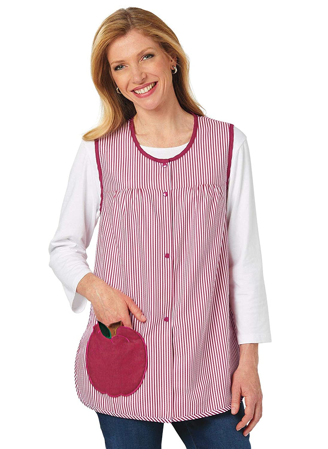 Color Leaves Cobbler Smock Apron Craft Apron for Adults with Pockets Size Small Size Small Carol Wright Gifts Cobbler Apron for Women with Pockets Snap Front Leaves