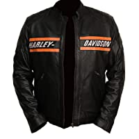Perfect Colors Harley Davidson Motorcycle Goldberg Leather Biker Real Jacket