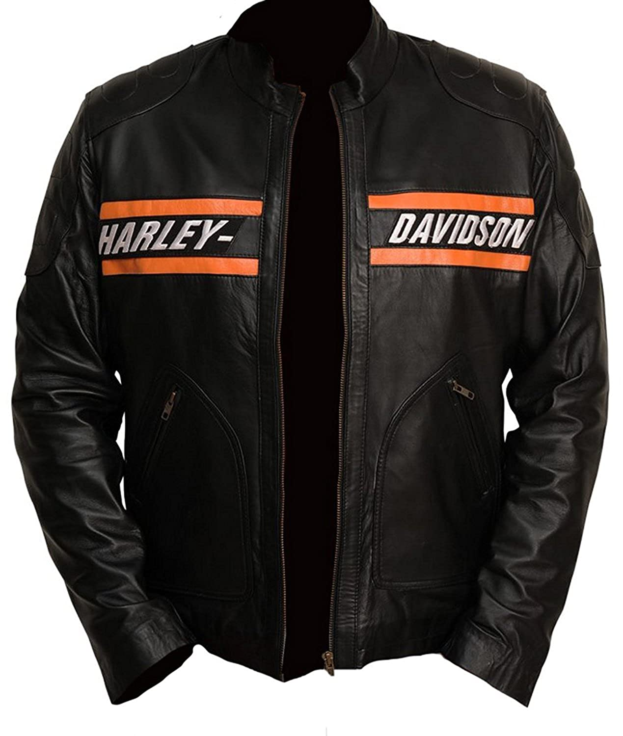 Harley Davidson Motorcycle Goldberg Leather Biker Real Jacket