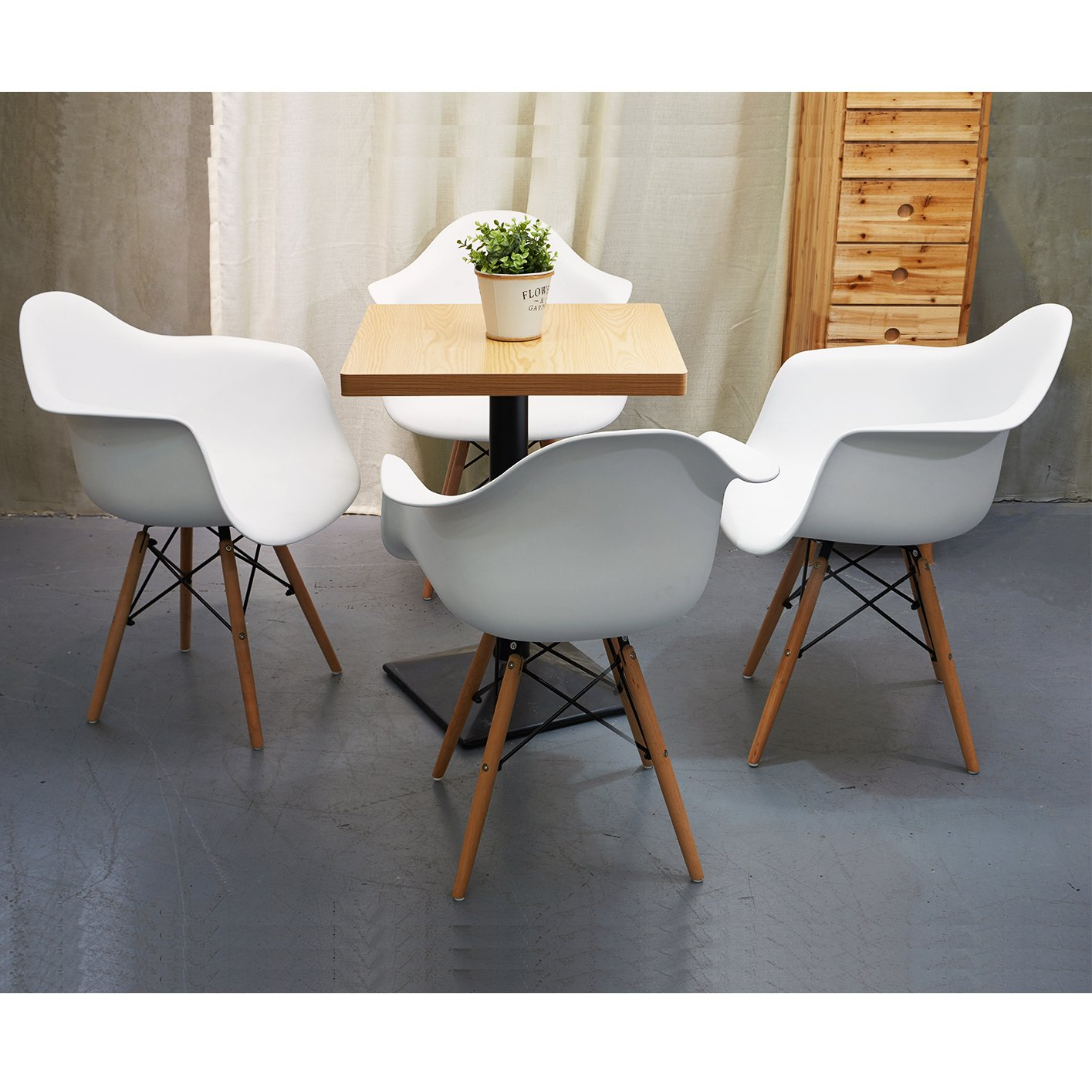 Set of 2 Lounge Dining Chair Ajie Retro Design Side Chair Armchair