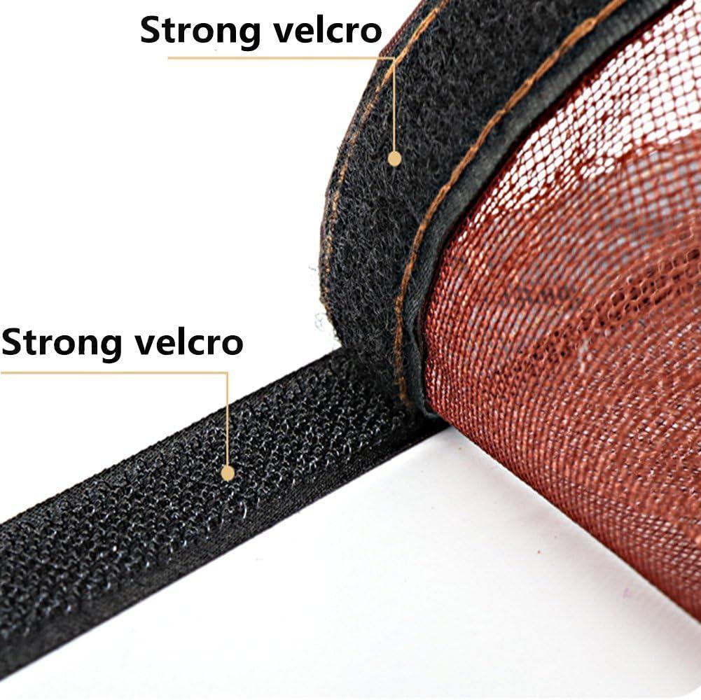37x83inch YUNJIE Magnet fliegengitter t/ür Full-Frame Velcro M/ücken fliegen Insekten fernzuhalten Schlie/ßen sie automatisch Franz/ösisch t/ür Terrassent/ür Balkont/ür-M 95x210cm