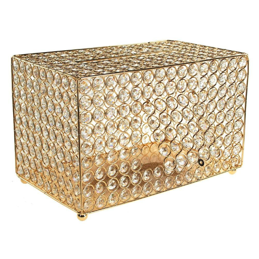 Homeford Crystal Money Card Box Wedding Centerpiece, 13-3/4-Inch (Gold) by Homeford