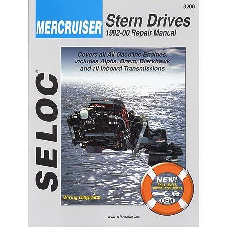 amazon com mercruiser stern drives 1992 2000 seloc marine rh amazon com seloc marine manuals pdf seloc marine manuals downloads