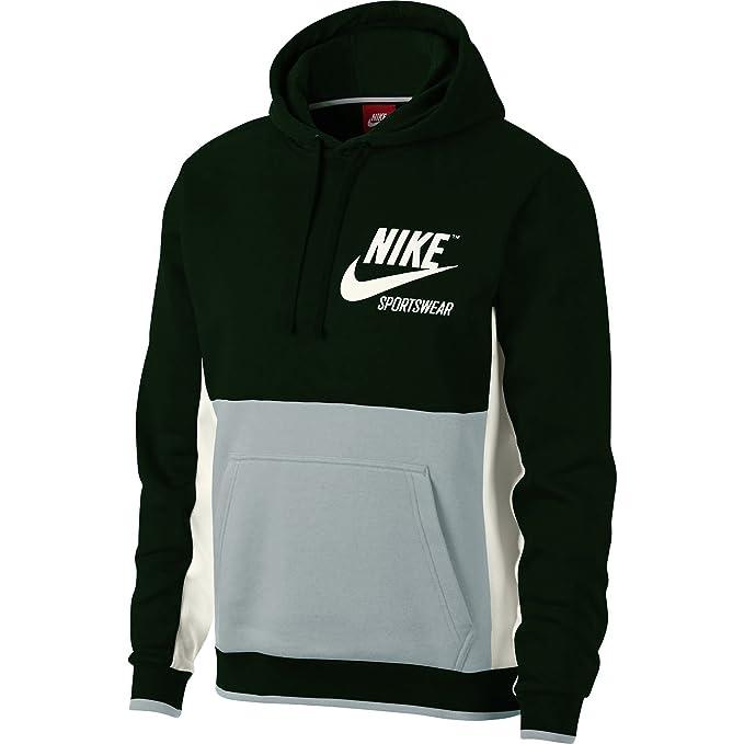 Nike Sudadera Sportswear Hoodie Verde/Gris Hombre XXL Verde: Amazon.es: Ropa y accesorios