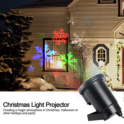 gemtune moving color snowflakes lawn led flood projector light ceiling projection decorative wall spot lights mood