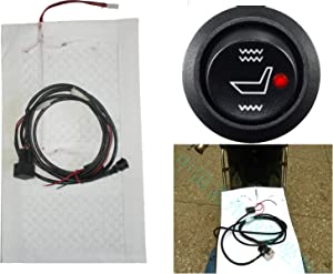 The Best Use of Motorcycle Carbon Fiber Far Infrared Health System, with Your Cold Leather Farewell! (Motorcycle heated two-seater modification, Carbon fiber far-infrared heating sheet)