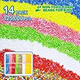 Foam Beads for Slime, Styrofoam Foam Balls, 14 Pack (0.018~0.32 inch) Multi Colored Handcraft Foam Balls (126,000 pcs in Total), Best DIY Arts Crafts Suit For Household, Wedding and Party Decorations.
