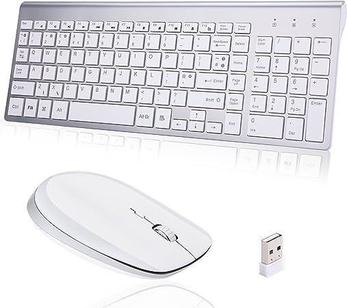 Combo de teclado inalámbrico y ratón, ultra delgado con ...