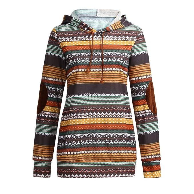 Bestow Sudadera con Capucha de impresión Suéter Blusa Superior Parches Manga Larga Abrigo de impresión con Capucha: Amazon.es: Ropa y accesorios