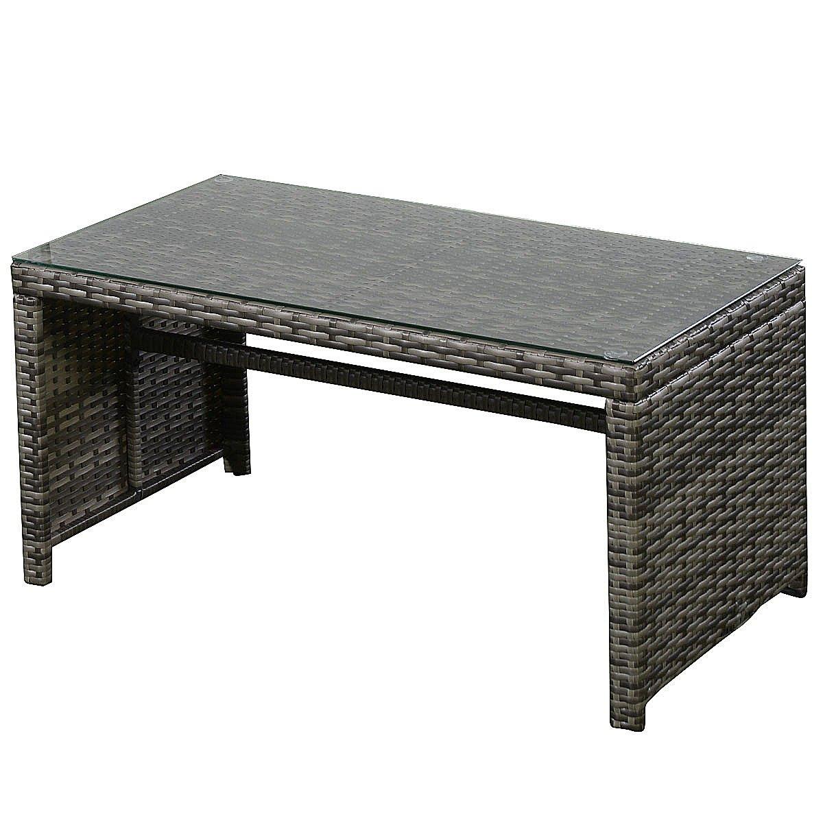Goplus 4 PC Rattan Patio Furniture Set Garden Lawn Sofa Cushioned Seat Wicker Sofa (Mix Gray) by Goplus (Image #9)