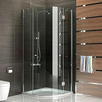 Duschabtrennung glas rund  Duschabtrennung Viertelkreis / Duschkabine glas Höhe 200 cm ...