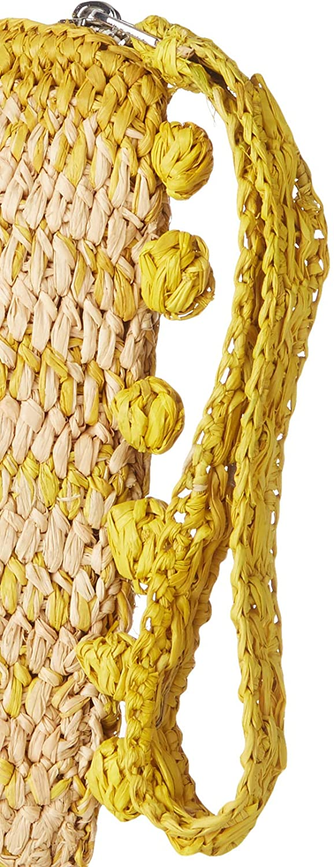 Vanessa Bruno dam pochette bulles handväska, 1 x 17 x 25 cm Flerfärgad (Ecru jaune)